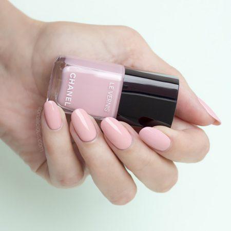 Chanel Nail Polish Nuvola Rosa Swatches Review Sonailicious