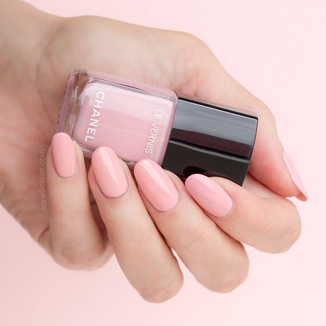 chanel pink polish, chanel nuvola rosa