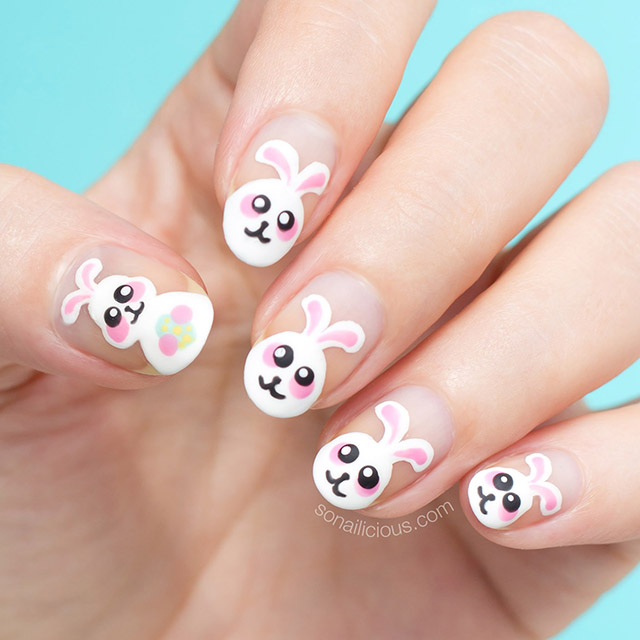 cute easter nail design