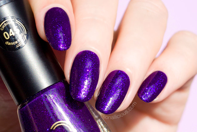 purple nail polish, dance legend 045