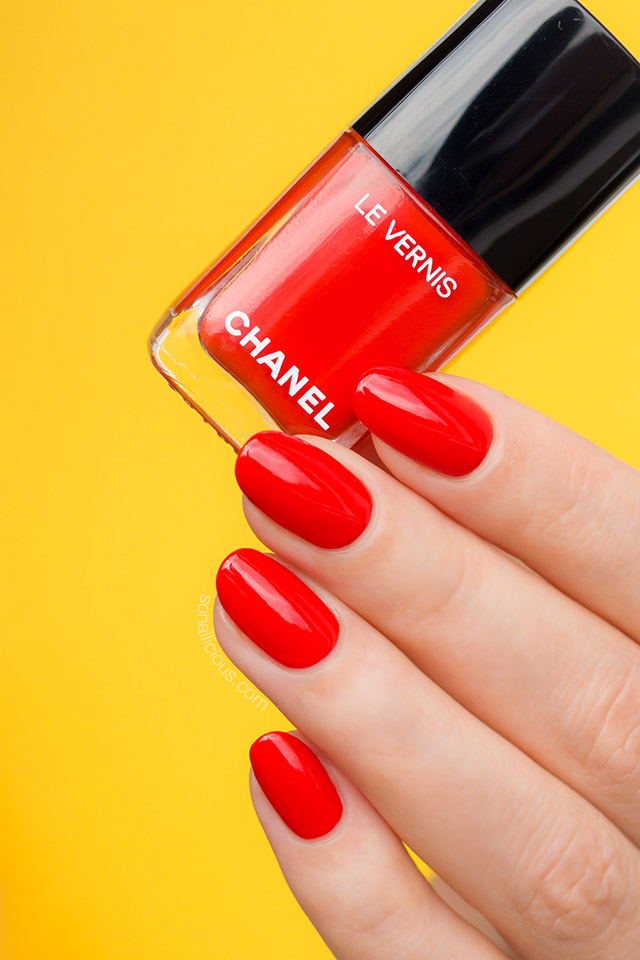 Chanel 634 Arancio Vibrante review swatches