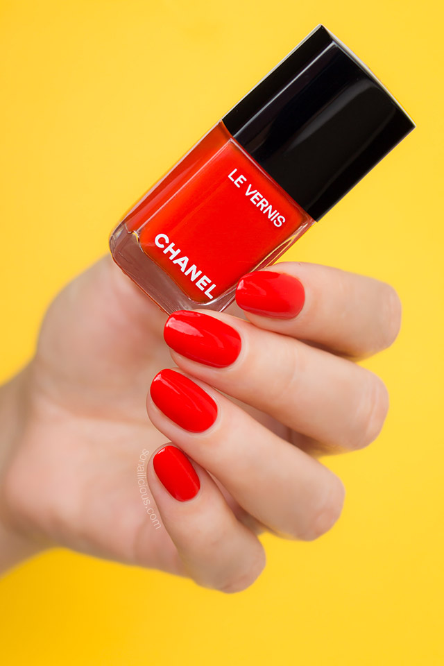 Chanel Arancio Vibrante Orange Red Nail Polish Sonailicious