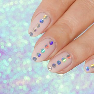 holographic nails, holographic stickers