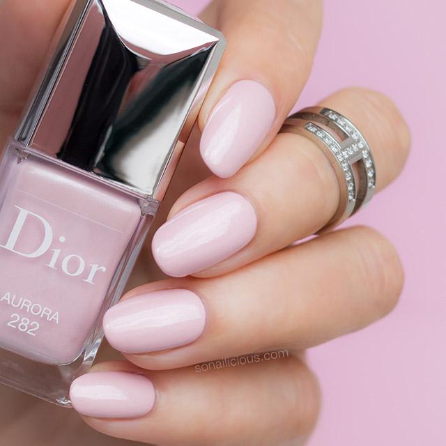pink dior nail polish, wedding nail polish