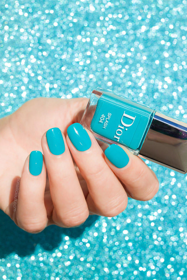 Turquoise Nail Art Feat Dior Splash Le Vernis Nails Of