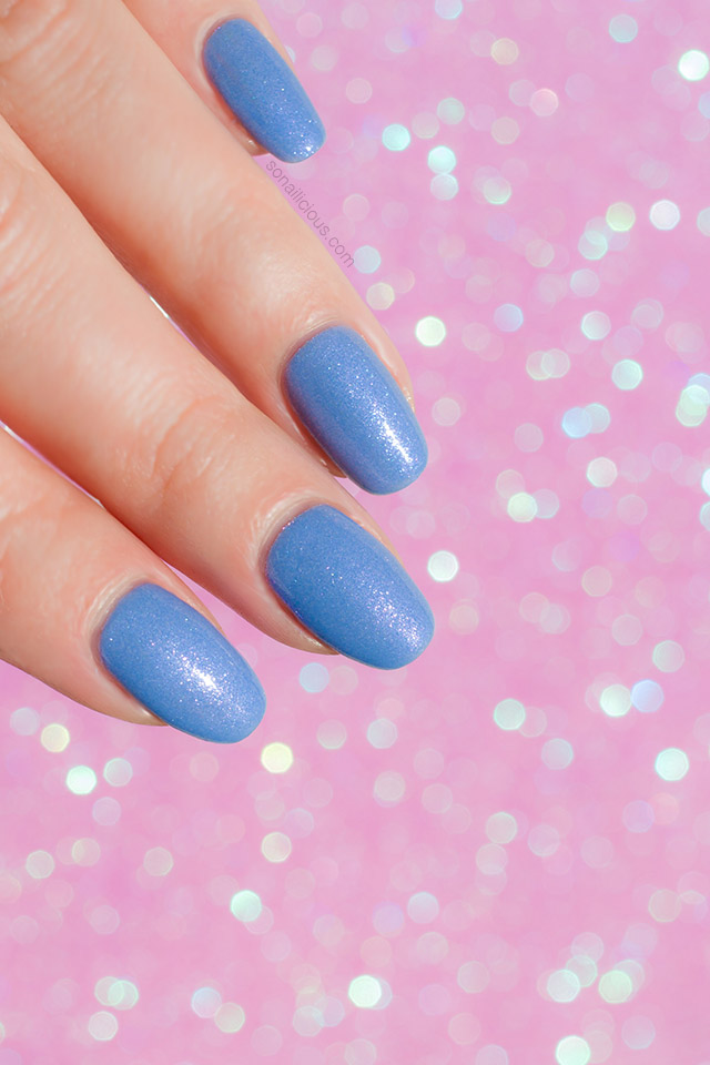 blue duochrome nail polish dance legend emma, 1