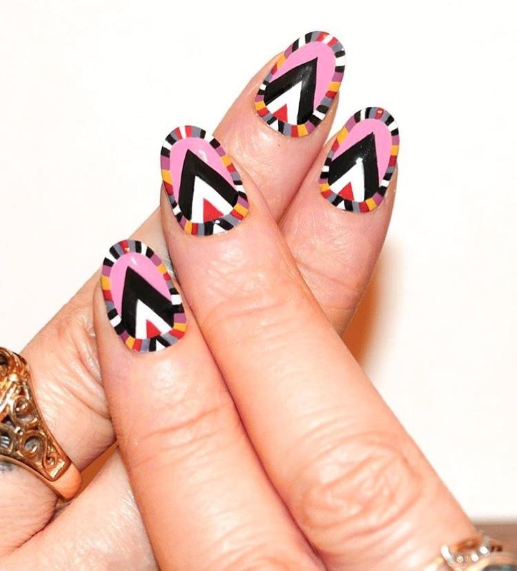 Beautiful abstract nails
