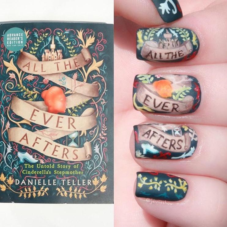 Book inspired nail art