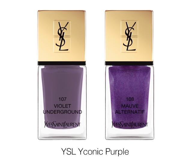 YSL Yconic purple fall 2018 nail polish