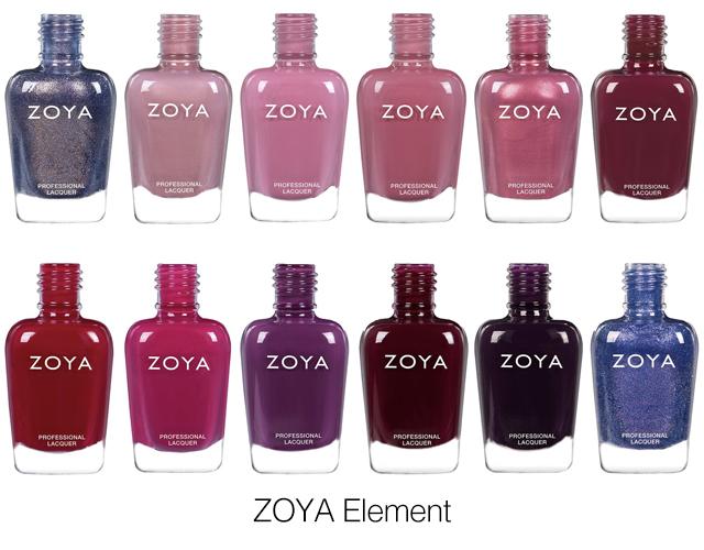 zoya element 2018 fall nail polish