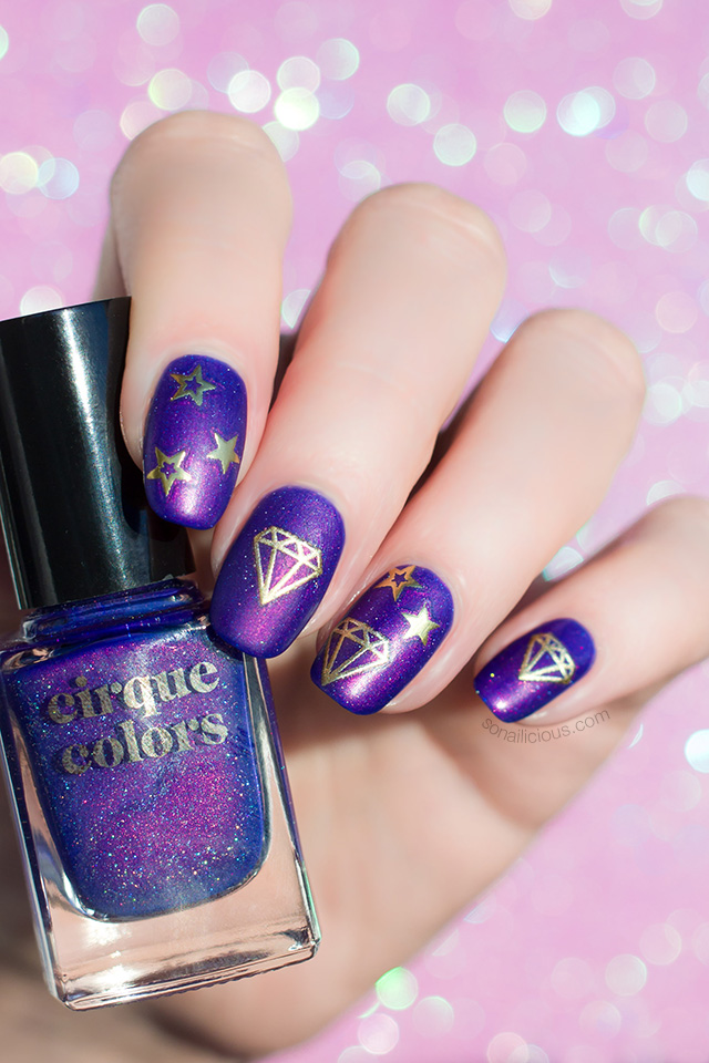 beautiful purple nails with cirque colors dusky skies
