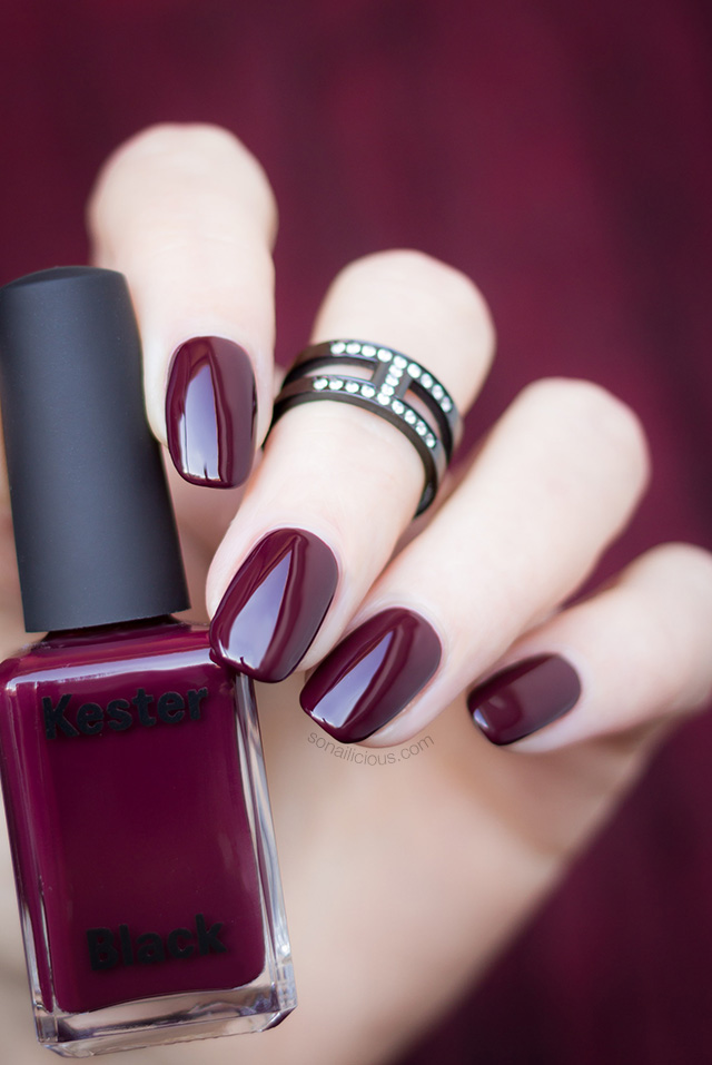 dark red nail polish Kester Black Narcissist
