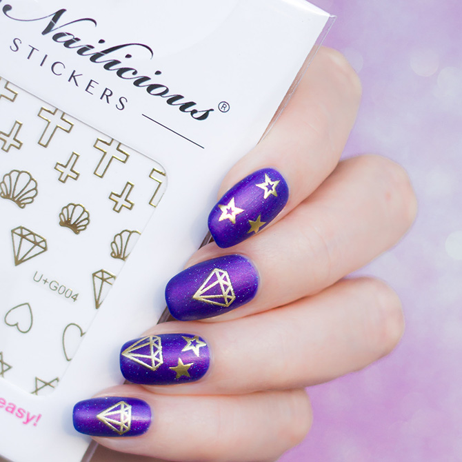 diamond nail stickers