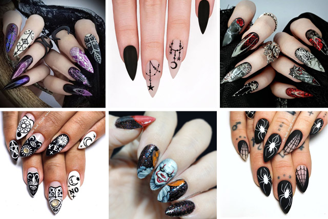 12 scary halloween nail designs
