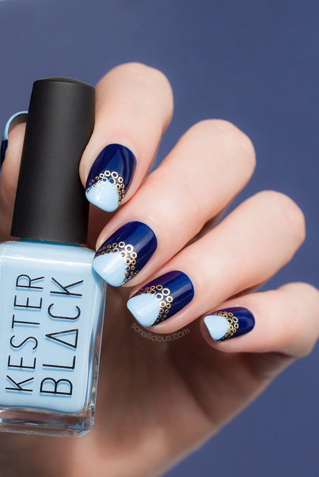 blue nail art kester black cumulus