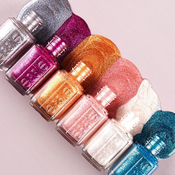 Essie Concrete Glitter Christmas nail polish collection