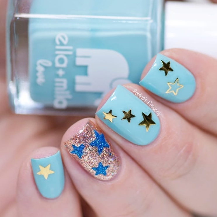 Pastel Starry Nails