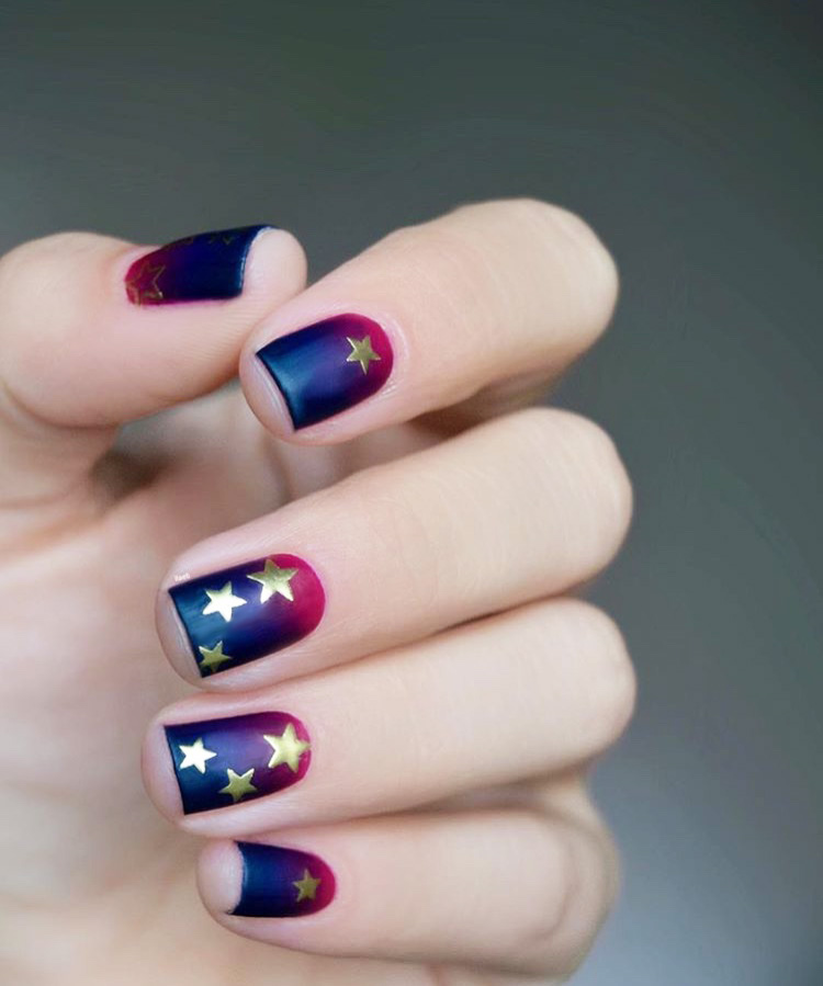 Starry Gradient Nails
