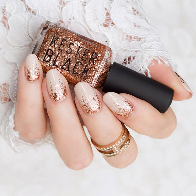 kester black dasher rose gold nail polish