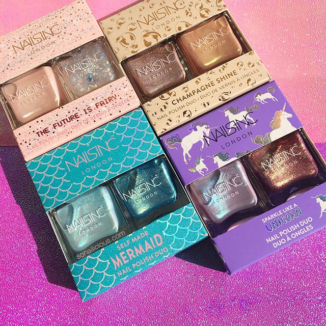 nails inc unicorn nail polish sets