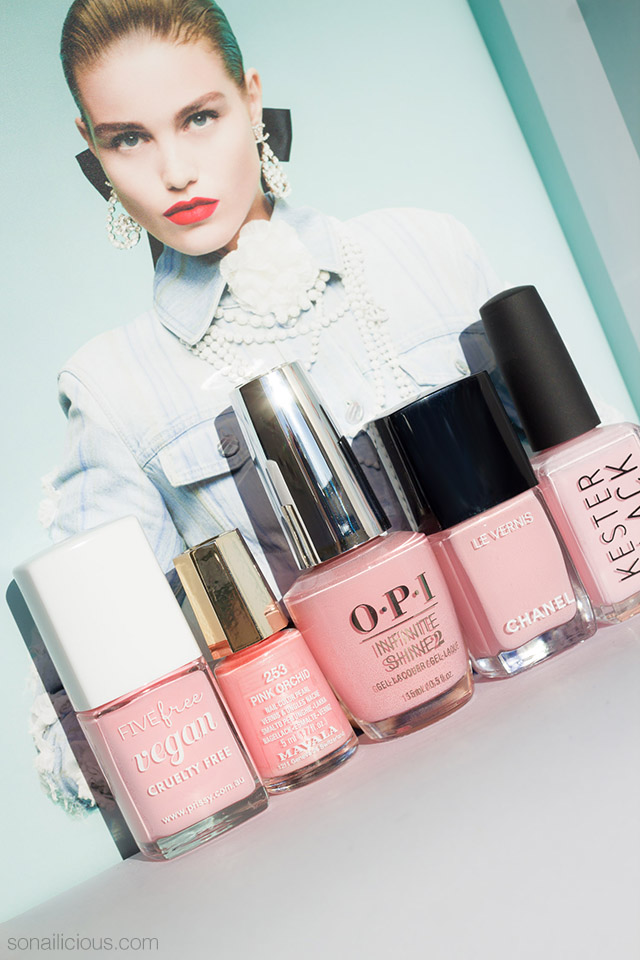Millennial Pink best 5 nail polishes