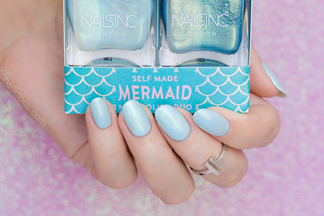 nails inc self mermaid nail polish set review