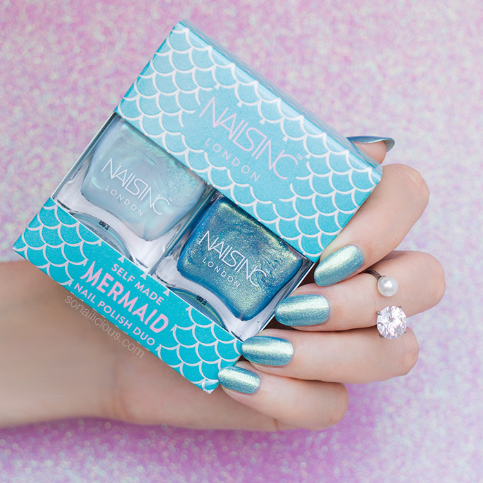nails inc self mermaid nail polish set