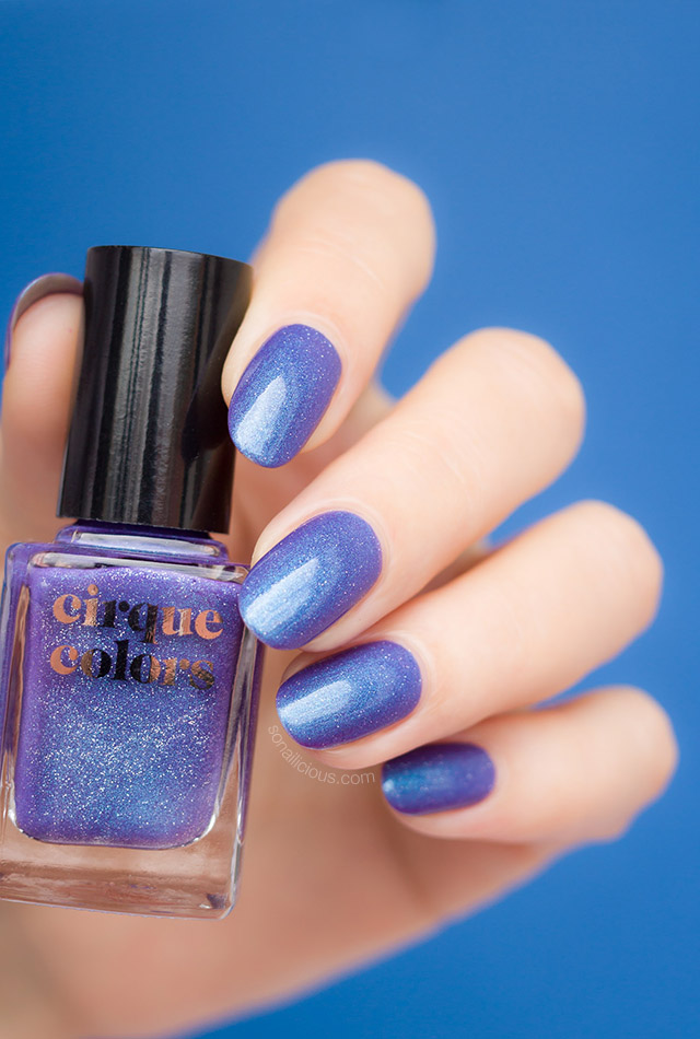 cirque colors Luna dark blue holographic nail polish