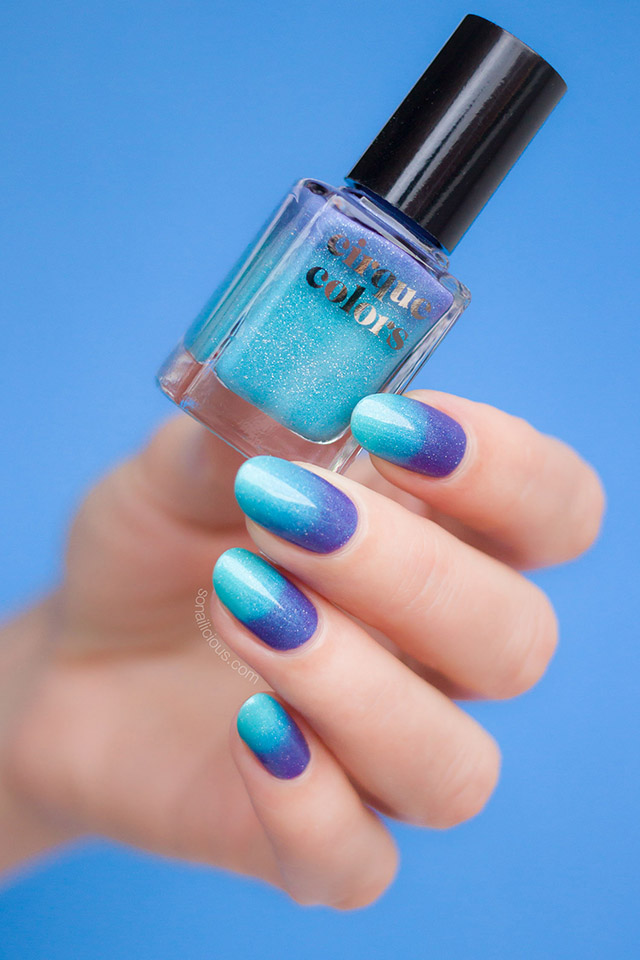 cirque colors Luna green holographic nail polish
