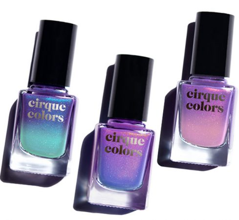 cirque colors celestial thermal nail polishes