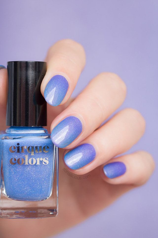 cirque colours terra blue holographic nail polish