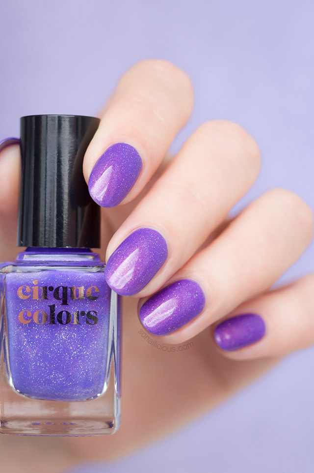 cirque colours terra purple holographic nail polish