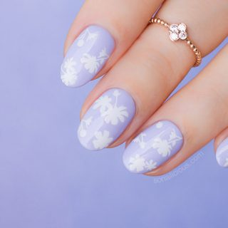 flower nails spring nail design