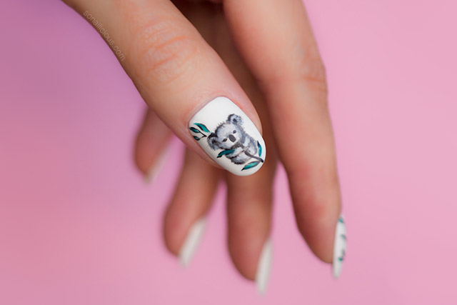koala nail art, artists for climate challenge