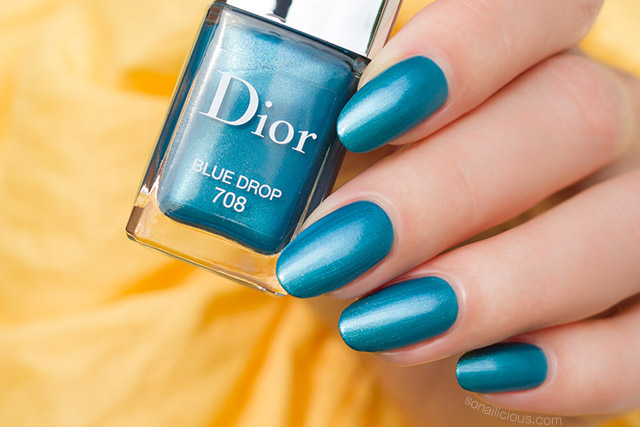 Dior 708 Blue Drop nail polish review
