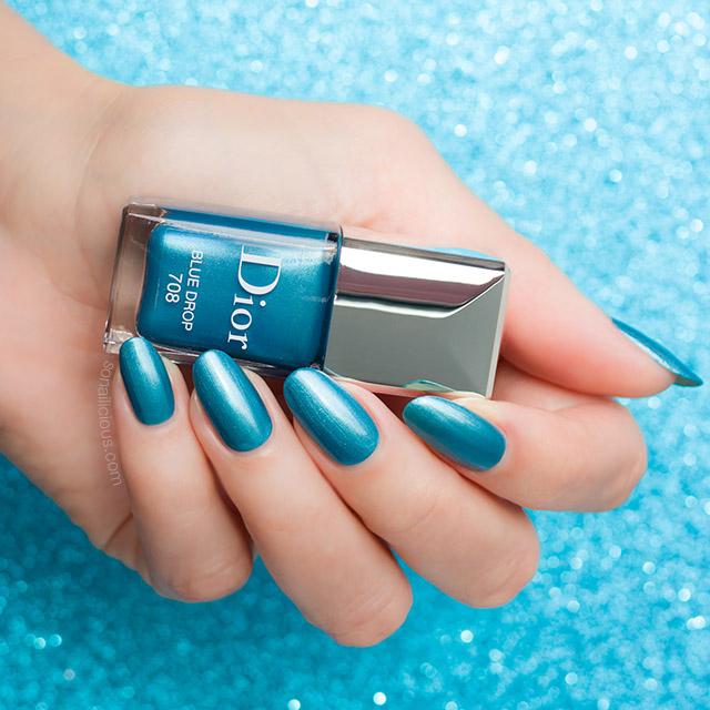 Dior 708 Blue Drop nail polish review