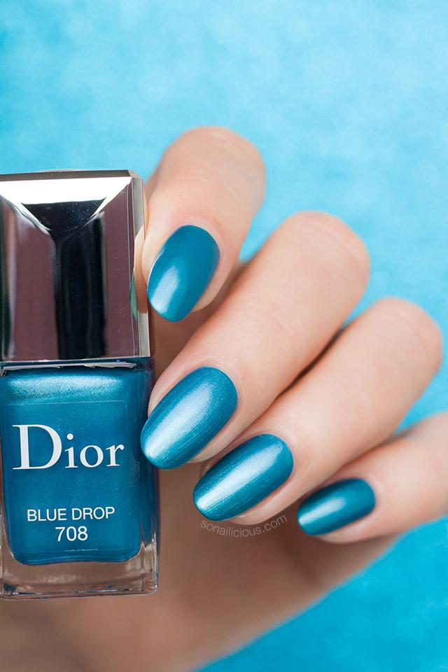 Dior Blue Drop nail polish