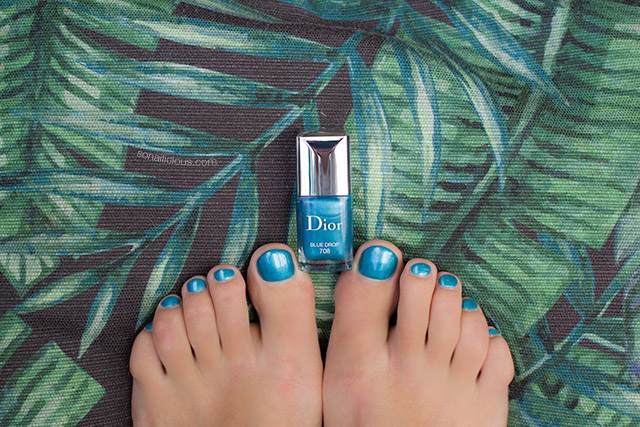 dior blue nail polish summer pedicure