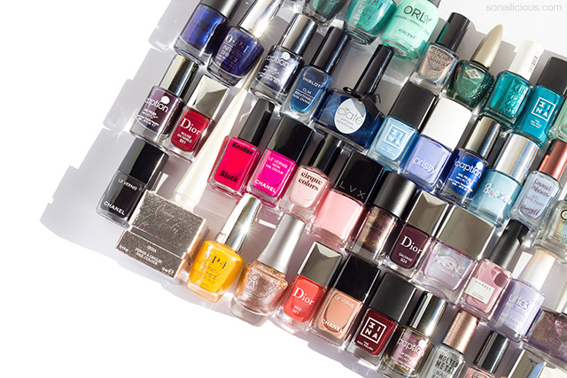 sonailicious nail polish collection, project try all the untrieds