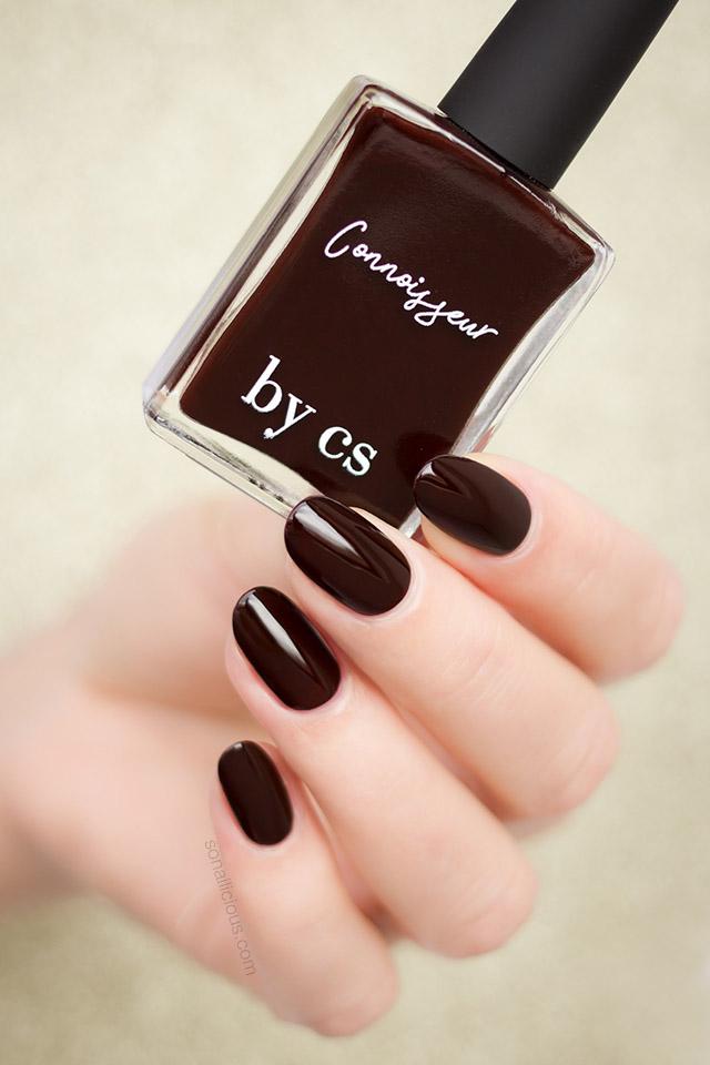 beautiful dark red nails