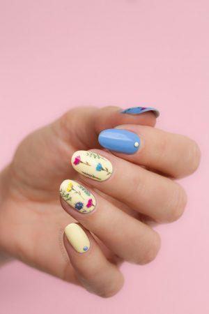 floral nails for summer