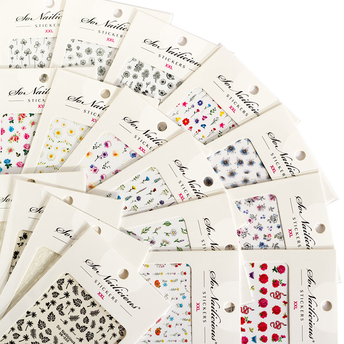 sonailicious floral nail stickers set all in one, snb