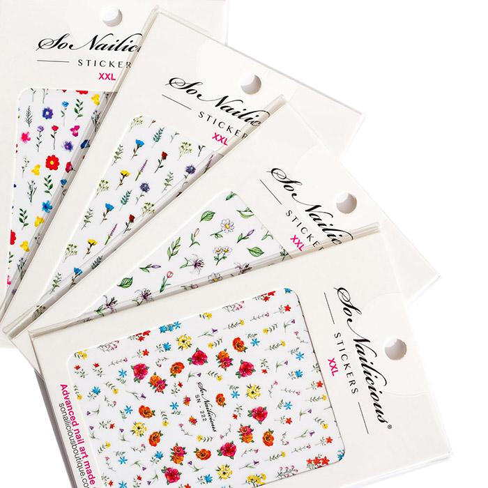wildflower stickers set