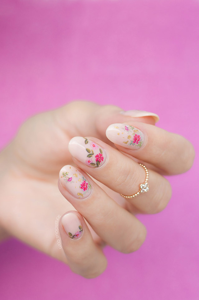 How to Do Roses Nails Like A Pro [Nail Art Tutorial]
