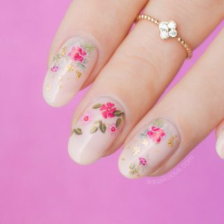 roses nails how to