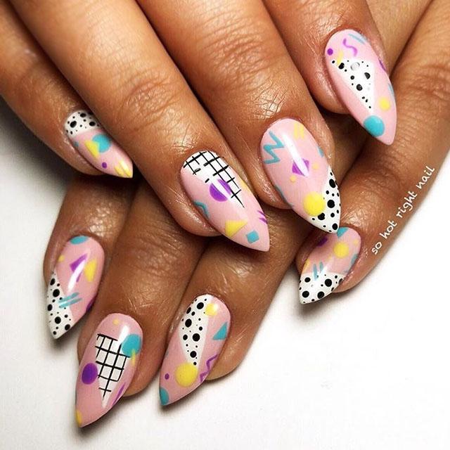 80s print nails