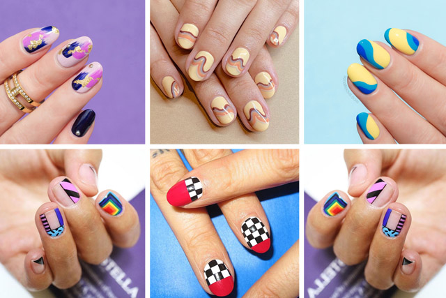 abstract nail designs, 10 best nail art ideas