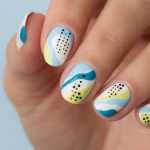 Lime in the Sky Abstract Nails. Plus, How-To