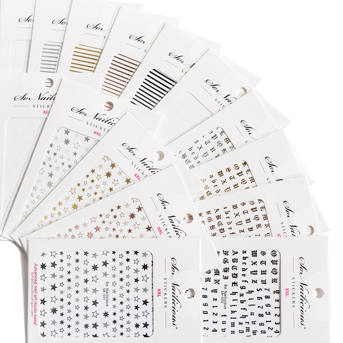 classic nail stickers set all in one