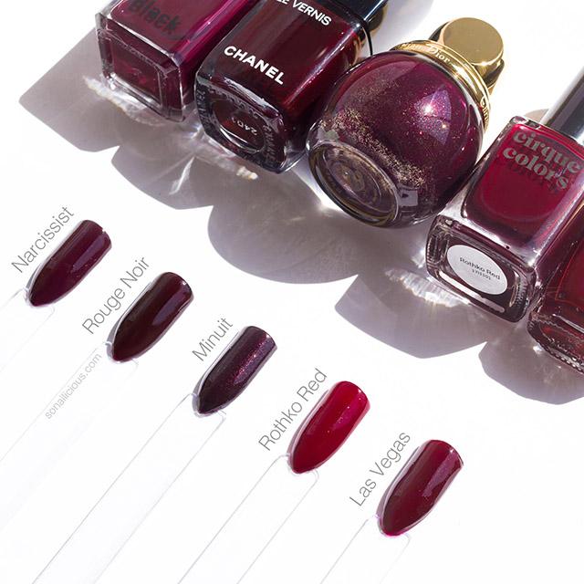 dark red nail polish best 5